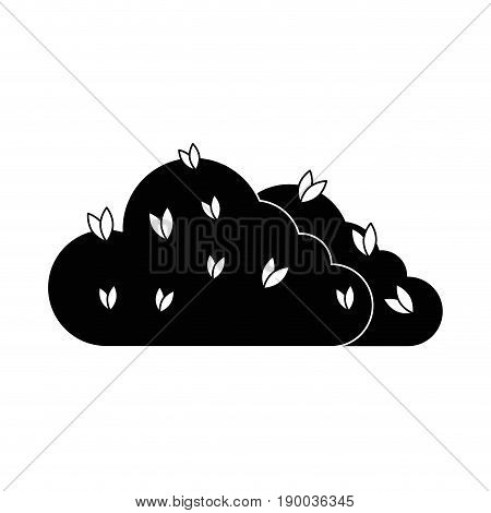 Bush plant isolated icon vector illustration graphic design