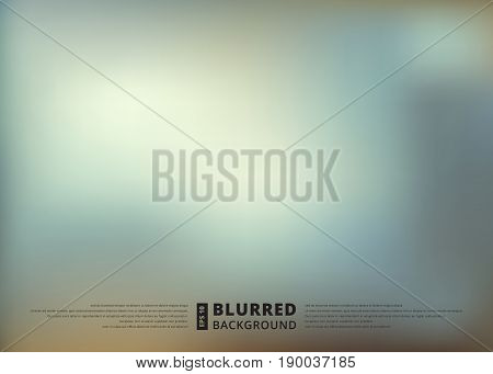 Abstract blue blur unfocused style background blurred wallpaper design vector illustration