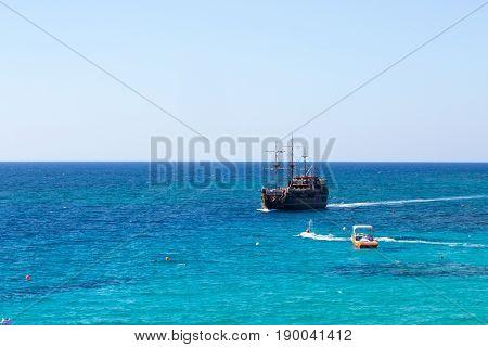 Big beautiful ship in the sea, Cyprus, photo for you