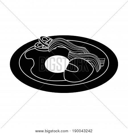 American breaksfast food icon vector illustration graphic design
