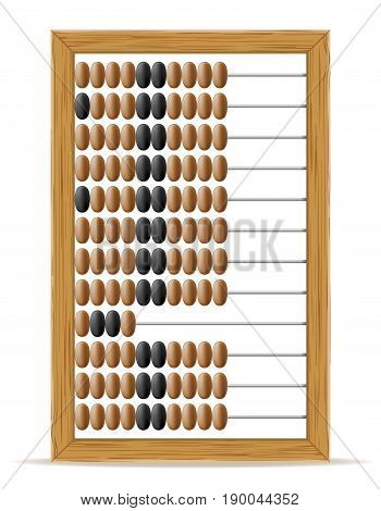 abacus old retro vintage icon stock vector illustration isolated on white background