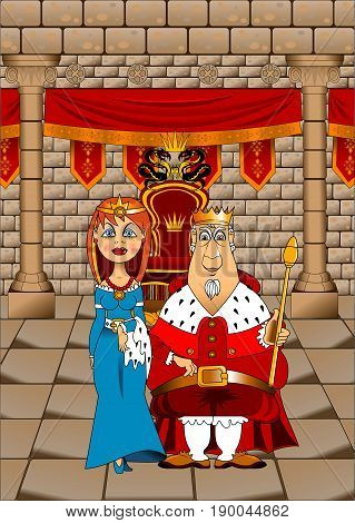 King and Queen in the Great Throne Room illustration