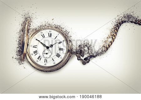Antique Pocket Watch Exploding