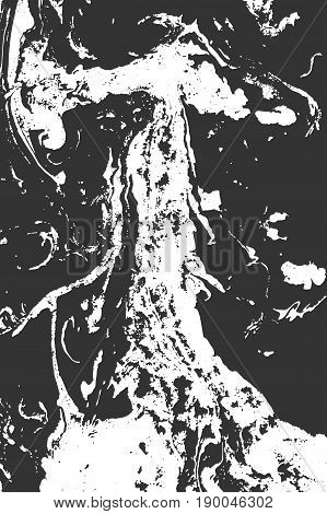 Suminagashi, erbu, marbling. Abstract liquid background. The effect of ink on the water. Spots, strips, waves, twists, points. Vector illustration.