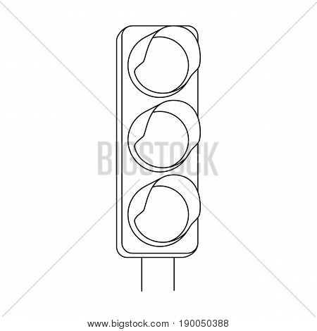 Traffic light for vehicles.Car single icon in outline style vector symbol stock illustration .