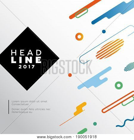 Abstract Background - vector template flat design background for a presentation. Make your idea look good. Heading with text. Modern outlook with different shapes. Copy space for your information.
