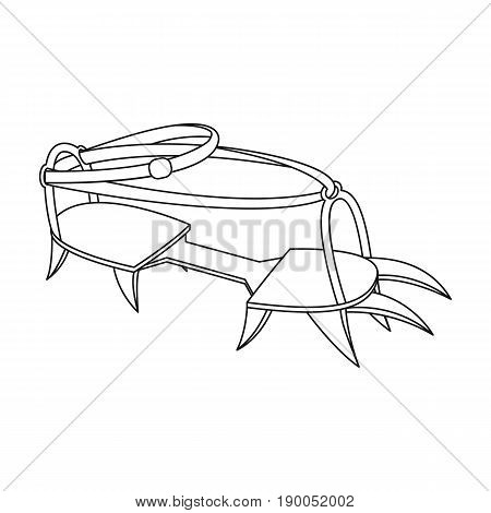 Spikes on the shoes.Mountaineering single icon in outline style vector symbol stock illustration .