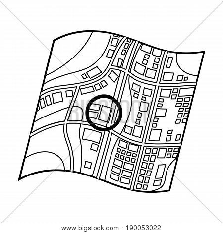 Location on the map.Realtor single icon in outline style vector symbol stock illustration .