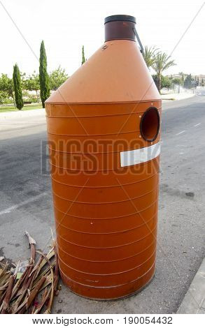 Waste Oil Cotainer on a Spanish Street