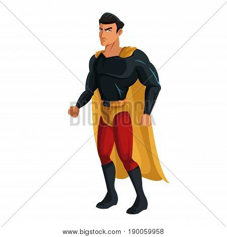 superhero cartoon suit disguise power style vector illustration