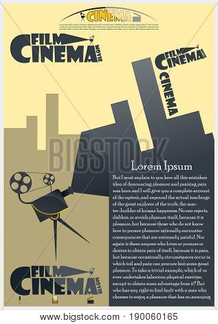 Vector design brochures backgrounds on cinema theme
