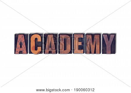 Academy Concept Isolated Letterpress Word