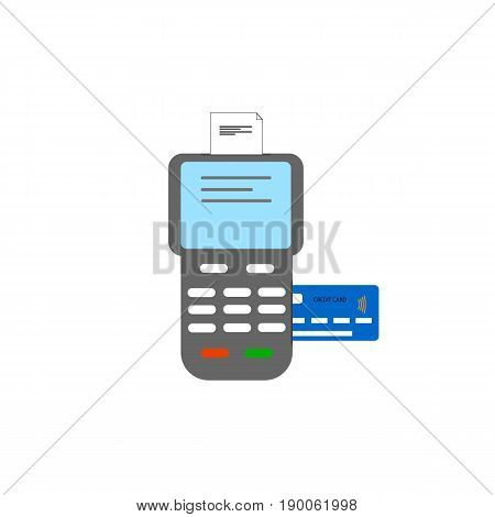 POS terminal flat vector icon vector illustration