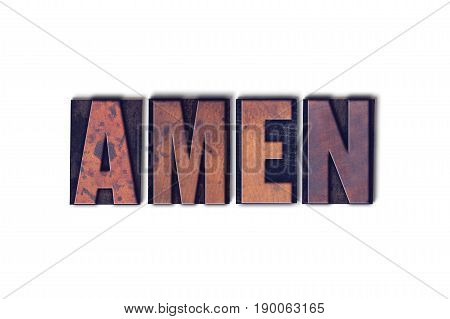 Amen Concept Isolated Letterpress Word