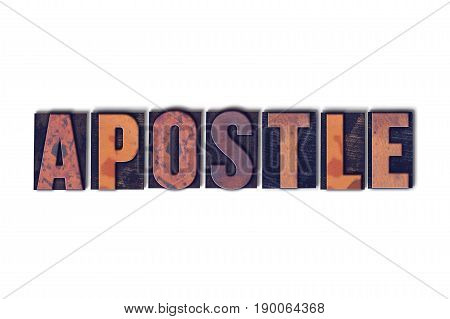 Apostle Concept Isolated Letterpress Word