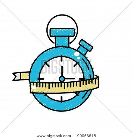 chronometer with measuring to practice exercise vector illustration