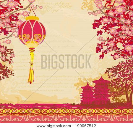 Mid-Autumn Festival for Chinese New Year card , vector illustration