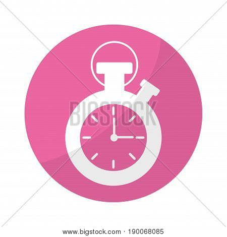 sticker chronometer to know and meter the time vector illustration