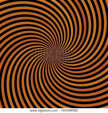 Radial swirling circle round twirl beams hypnotic background