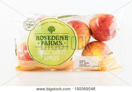 Bag Of Rosedene Farms Small Sweet Apples From Tesco.