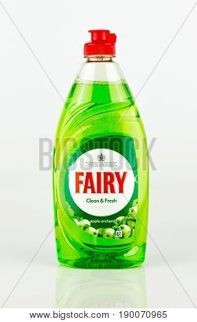 Bottle Of Fairy Washing Up Liquid. Green. Apple Orchard Scent.
