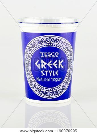 Pot Of Tesco Own Brand Greek Style Natural Yogurt