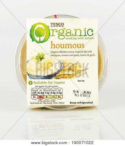 Vegan Tesco Organic Houmus. Mediterranean Inspired Dip.