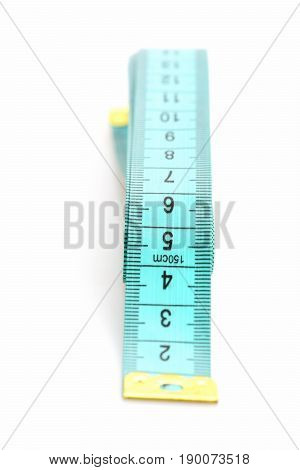 Ruler For Sewing In Cyan Color With Golden End