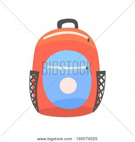 Colorful backpack, rucksack for school or travel vector Illustration isolated on a white background