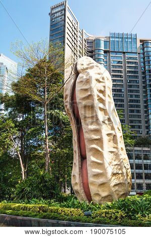 Peanut Statue In Front Of Museum In Guangzhou