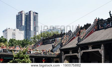 Roofs Of Guangdong Folk Art Museum