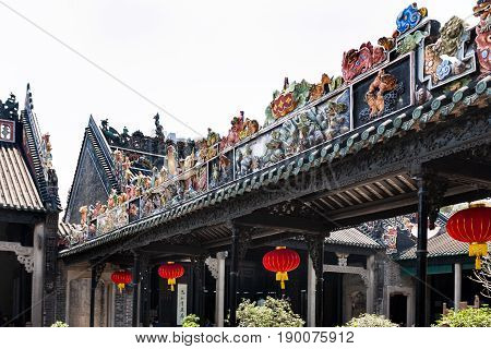 Roof Ornament Of Guangdong Folk Art Museum