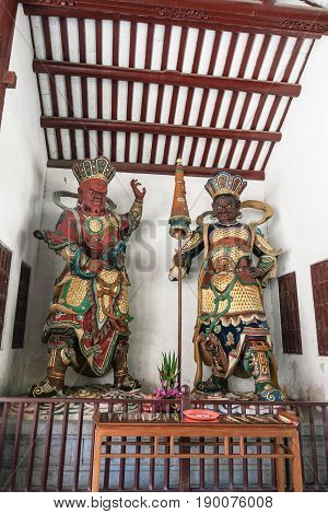Gods Statues In Guangxiao Temple In Guangzhou
