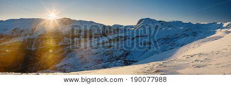 Norwegian Mountains Landscape