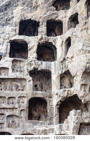 Caves In Rocks Of Longmen Grottoes