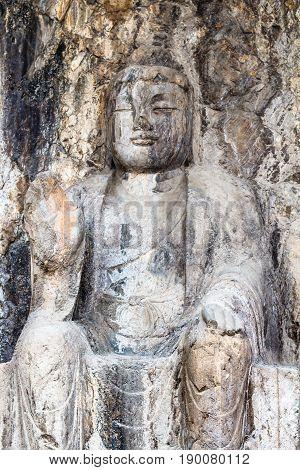 Carved Sculpture In Longmen Grottoes