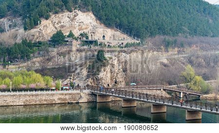 Manshui Bridge Between West And East Hills