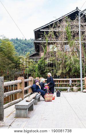 Old Women In Folk Custom Centre Of Chengyang