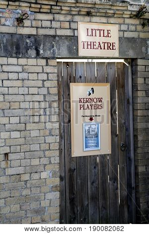 Padstow, Cornwall, Uk - April 6Th 2017: Entrance To The Kernow Players Little Theatre In Padstow