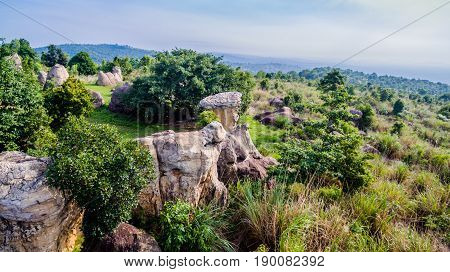 Aerial Photography Natural Stone Sculpture At Mo Hin Khao