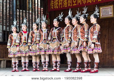 Folk Singers In Culture Show In Chengyang Village