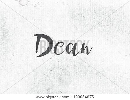 Dean Concept Painted Ink Word And Theme