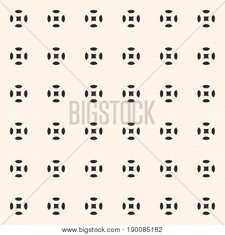 Vector seamless pattern. Smooth geometric figures pattern. Circles pattern. Squares pattern. Simple minimalist abstract background. Repeat tiles pattern, design pattern, covers pattern, fabric pattern, furniture pattern.