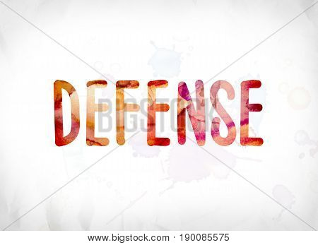 Defense Concept Painted Watercolor Word Art