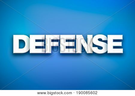 Defense Theme Word Art On Colorful Background