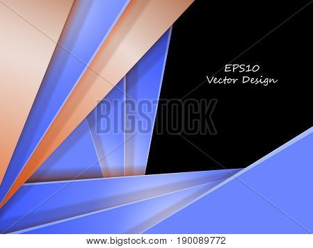 bright vector modern frame over black. Colorful background with copy space. Elements for design. Eps10