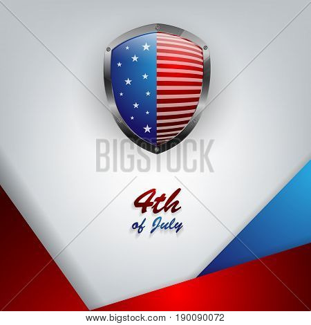 Independence day vector background. Bright template for holiday design. Elements for illustration. Eps10