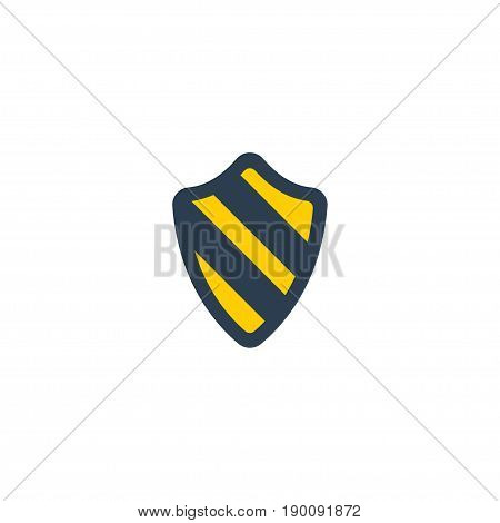 Flat Icon Protection Element. Vector Illustration Of Flat Icon Shield  Isolated On Clean Background. Can Be Used As Shield, Protection And Safe Symbols.