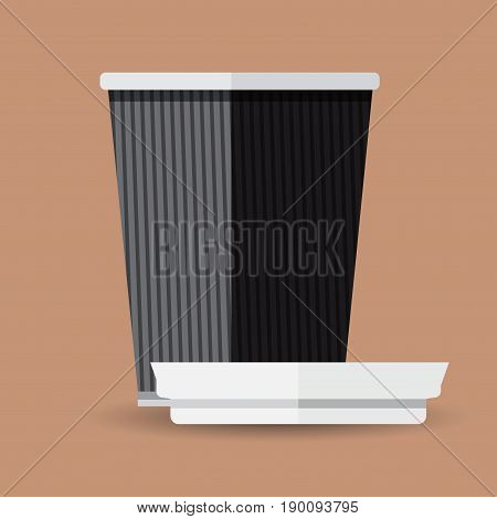 Coffee cup in flat design. Coffee cup vector illustration. Coffee cup icon. Coffee cup isolated on background.