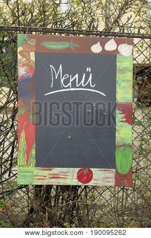 tafelschrift menu